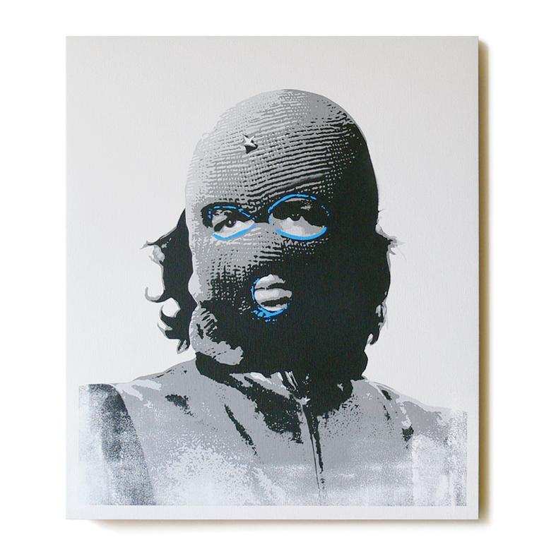 ステンシルアート「Che (Blue Edition)」