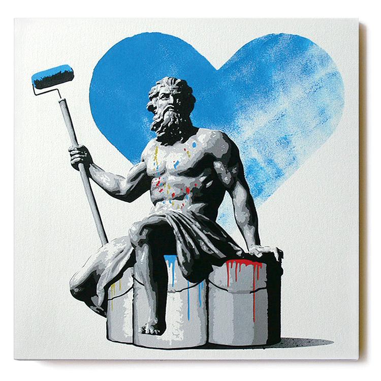 ステンシルアート「Painter (Blue AP Edition)」